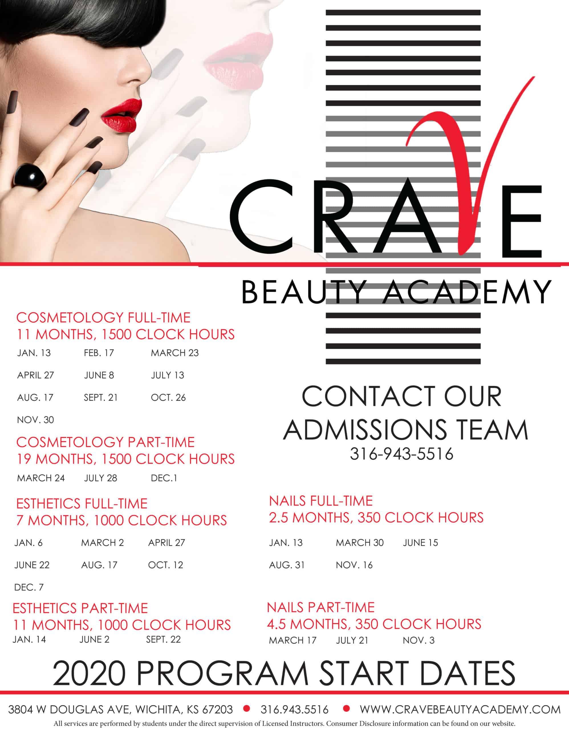 crave beauty academy display ad wichita ks